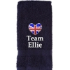 Personalised Gym Towel Home Workout Towel Navy