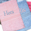 Personalised Hand Towels Pink and Blue Hand Towel Set