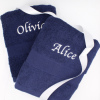 Navy Hand Towels Personalised Gift Set