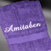 Personalised Bath Towel Purple Luxury Cotton Towel