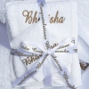 Personalised Towel Bale 3pc Towels Set with Ribbon