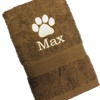 Personalised Dog Paw Print Towel