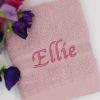 Dusky Pink Embroidered Face Cloth