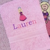 Pink Towel Personalised Princess Towel