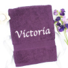 Personalised Towel Purple Hand Towel
