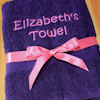 Personalised Purple Towel