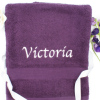 Personalised Bath Sheet Purple XL Towel