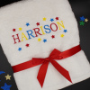 Childs Personalised Towel Name and Stars Towel
