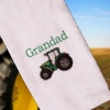 Tractor Embroidered Towel Personalised Tractor Towel