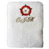 Tudor Rose Embroidered Towel