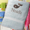 Childrens Towel Personalised Whale Towel
