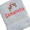 Personalised Towel Dolphins Embroidered Towel