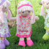 Personalised Soft Dolly Pink Floral Rag Doll