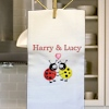 Anniverary Tea Towel Ladybird Personalised Dish Towel