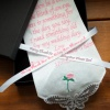 Flower Girl Handkerchief Rose Hanky Gift Boxed Personalised Ribbon