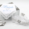 Personalised Brides Gift Set Lace Handkerchief and Garter