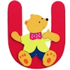 Wooden Letter Bear U Decoration