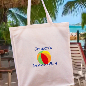 Beach Bag Personalised Beach Ball Tote Bag
