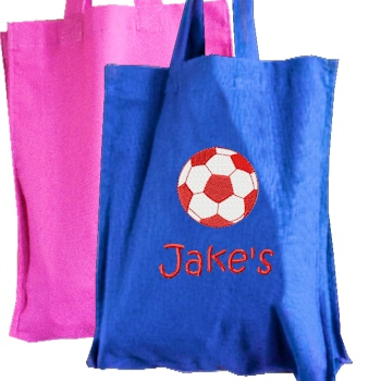 Personalised Mini Tote Childrens Hobby Bag Blue