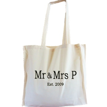 Personalised Bags Cotton Tote Bag - Natural