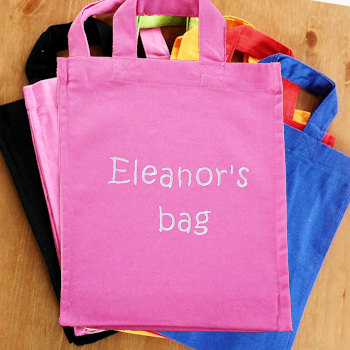 Personalised Goody Bag Pink Cotton Mini Tote Bag
