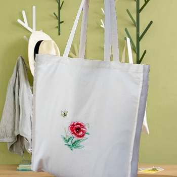 Poppy Shopping Bag Personalised Cotton Tote