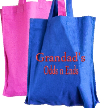 Mini Bag Personalised Blue Cotton Tote