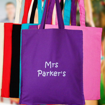 Teachers Gift Tote Bag Personalised Cotton Gusset Bag