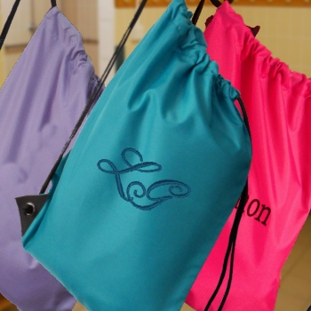 Personalised Gym Bag Teal Sports PE Sack