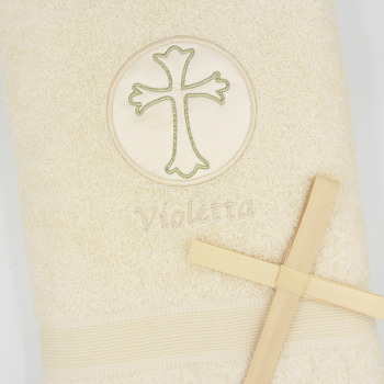 Baptism Towel Embroidered Christening Gift