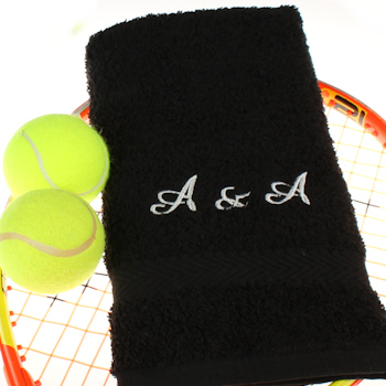 Workout Towel Personalised Exercise Gym Towel Black