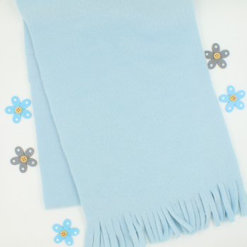 Personalised Scarf Light Blue Fleece Scarf