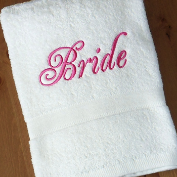 Bridal Towel Wedding Bride Bath Gift