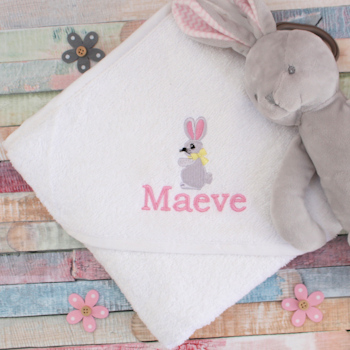 Personalised Baby Towel Bunny Hooded Towel
