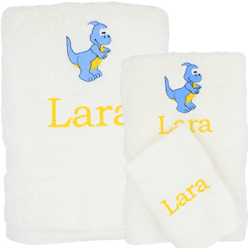 Kids Towels 3pc Childrens Personalised Towels