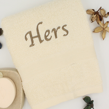 Personalised Towel Cream Hand Towel