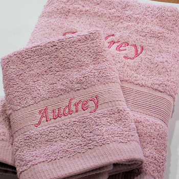Personalised Towel Set Hand Towel and Flannel 2pc Set