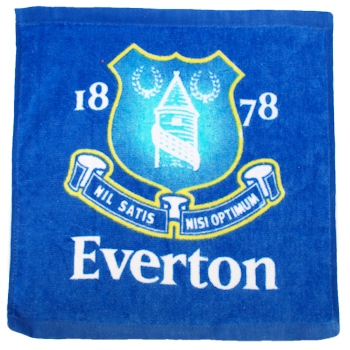 Everton Football Face Cloth
