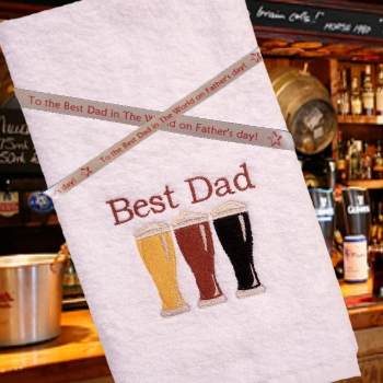 Mens Personalised Towel Embroidered Beer Towel