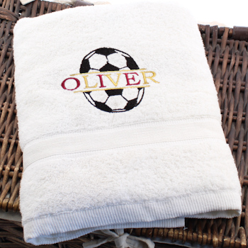 Childs Personalised Towel Football Club Colours