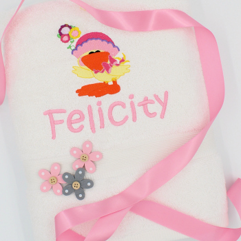 Girls Bath Towel Embroidered Bath Towel Personalised Gift