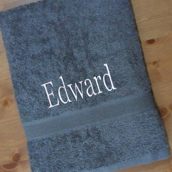Grey Cotton Bath Towel