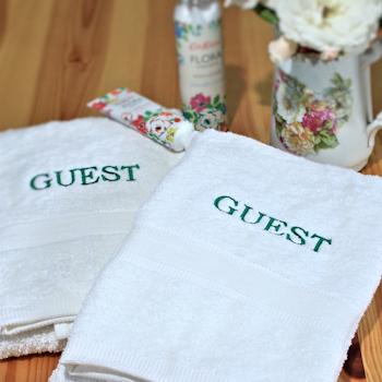 Personalised Guest Towels Embroidered Hand Set