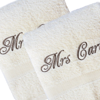 Bath Towels Set His and Hers Cream Towels