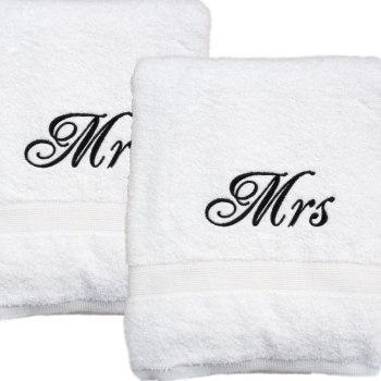 Anniversary Towels Personalised White Bath Towel Set