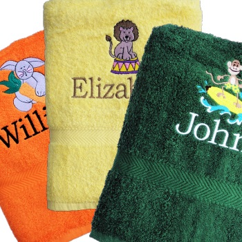 Named Kids Towel Embroidered Towels