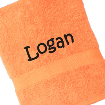 Personalised Bath Towel Orange Luxury Cotton Towel