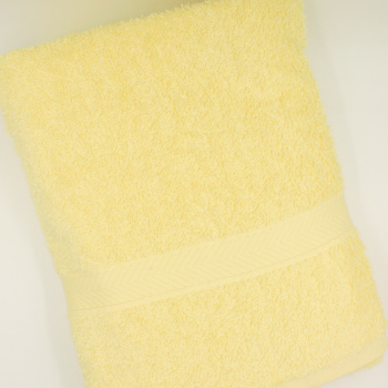 Personalised Bath Towel Pale Yellow Luxury Cotton