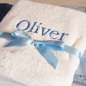 Personalised Towels Embroidered Named Towel