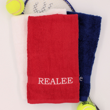 Personalised Gym Towel Red Sports Hand Towel